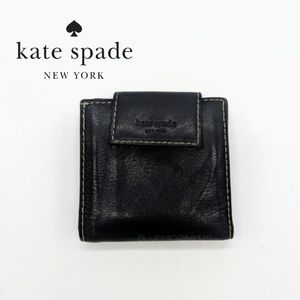 KATE SPADE Small Black Leather Wallet